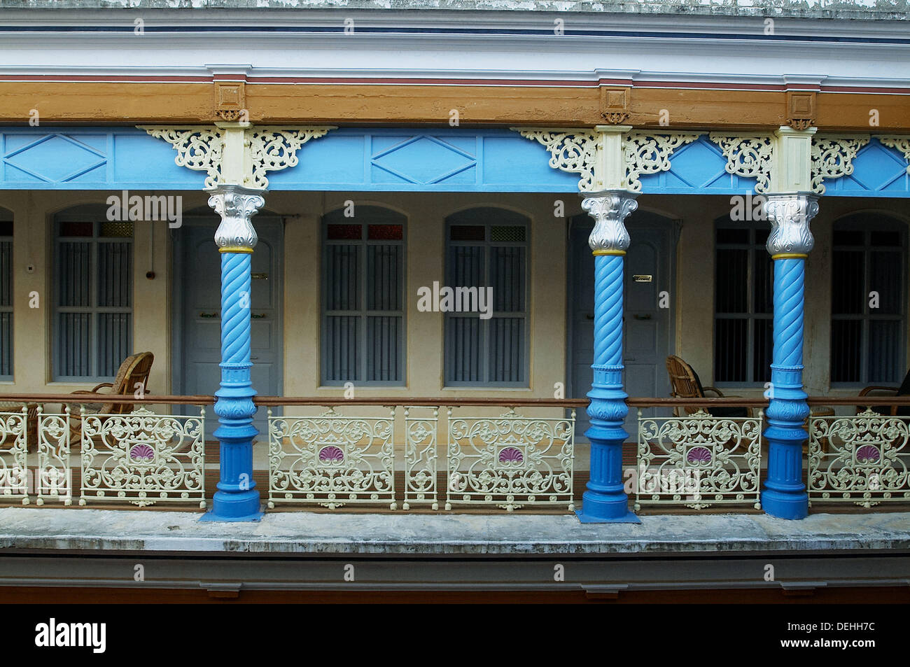 Chettinad house, Karaikudi, Tamil Nadu , India Stock Photo ...