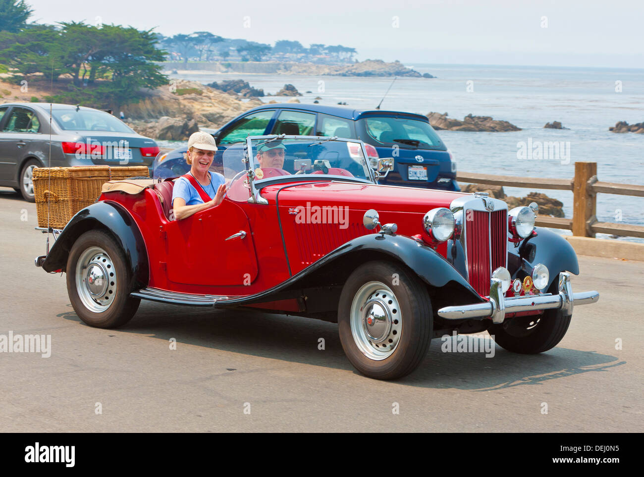 Restored Vintage MG Sports Car At Enthusiasts Get Together In - Get in sports car