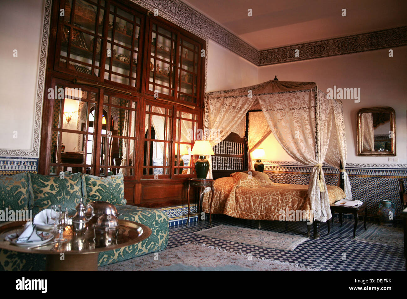 riad la maison bleue at fes morocco stock photo royalty free image 60643735 alamy. Black Bedroom Furniture Sets. Home Design Ideas