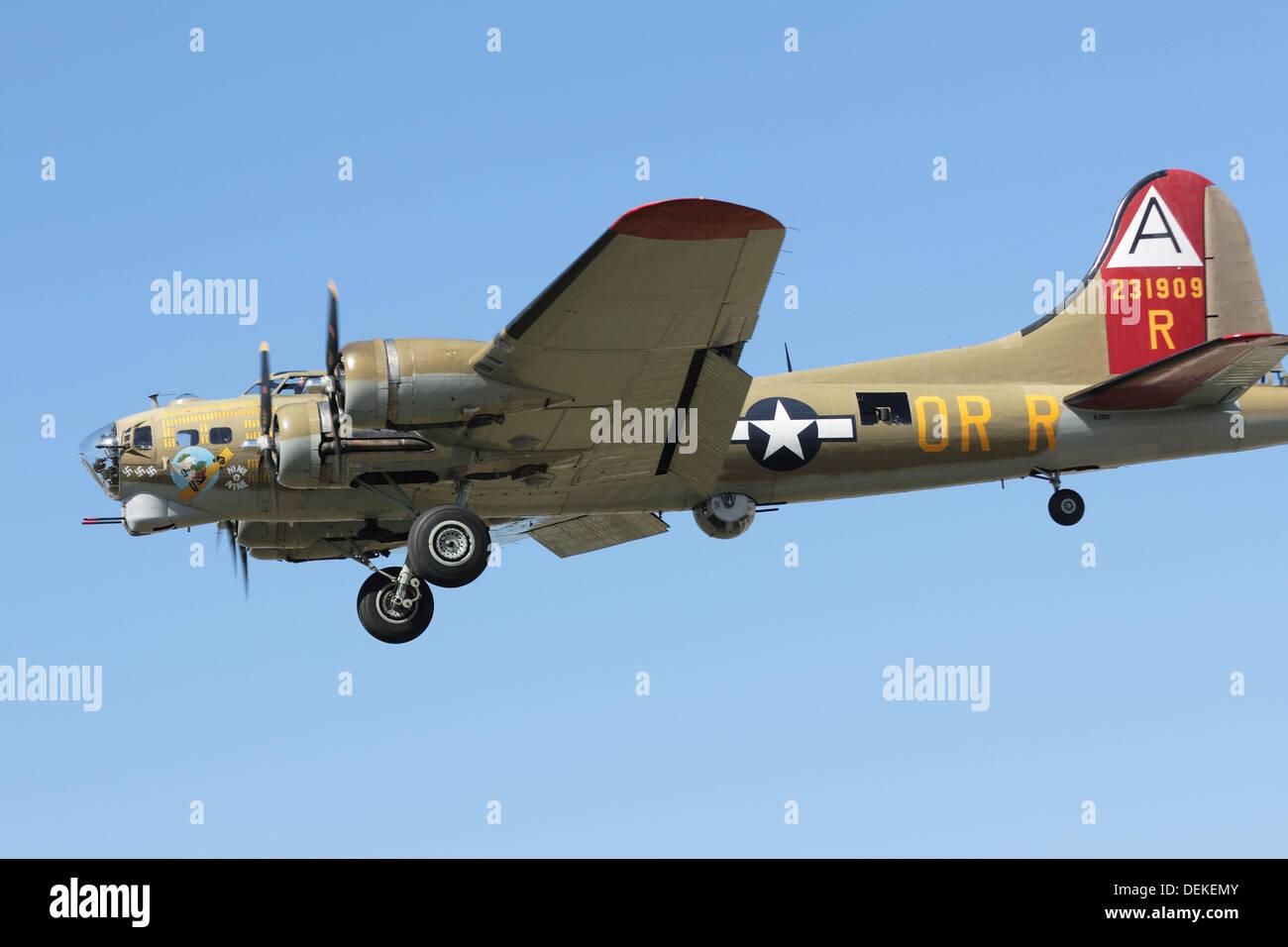 Restored B-17 WW2 Bomber Aircraft Stock Photo, Royalty ...