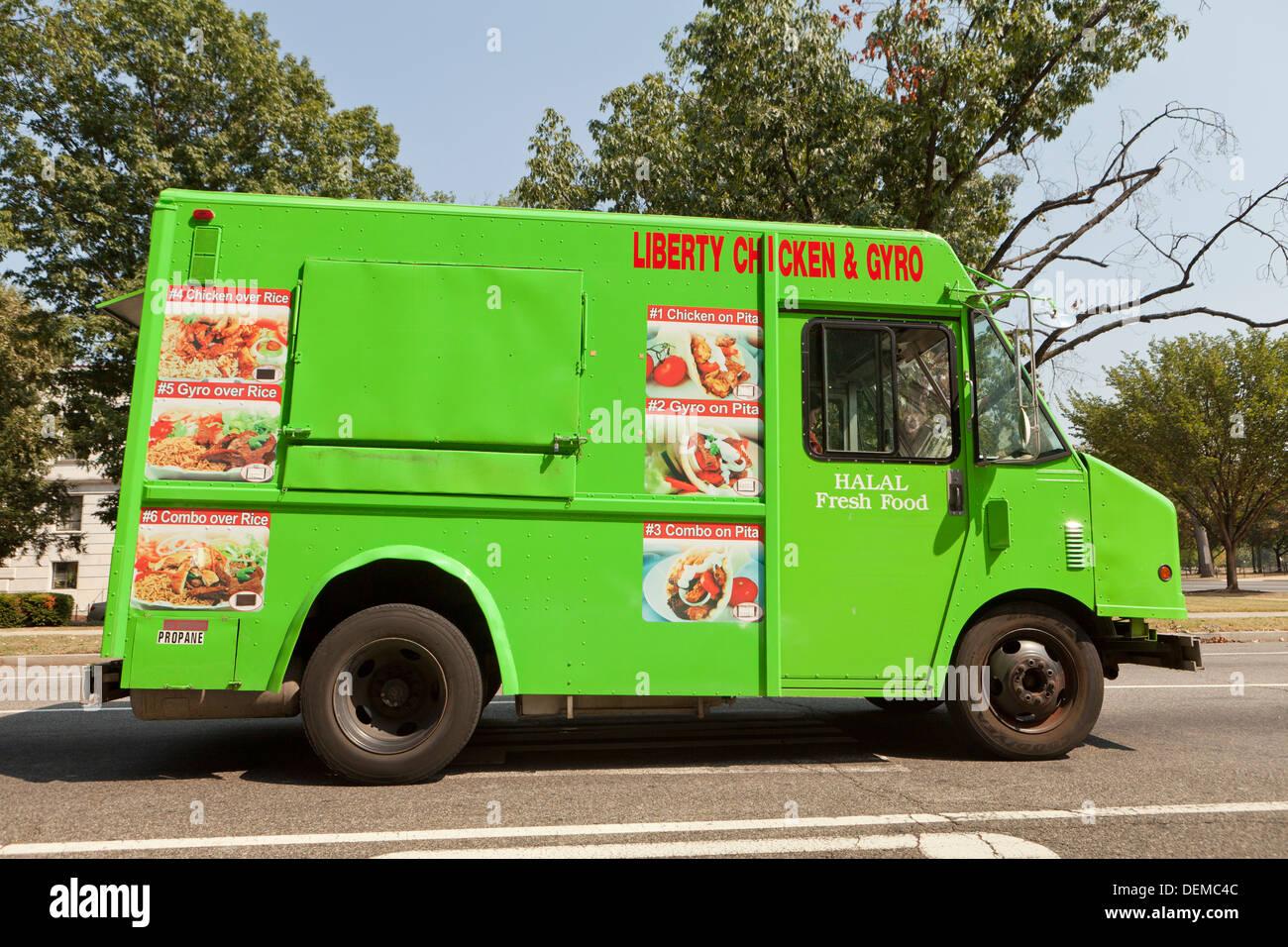 Gyro Sandwich Food Truck Washington Dc Usa Stock Photo