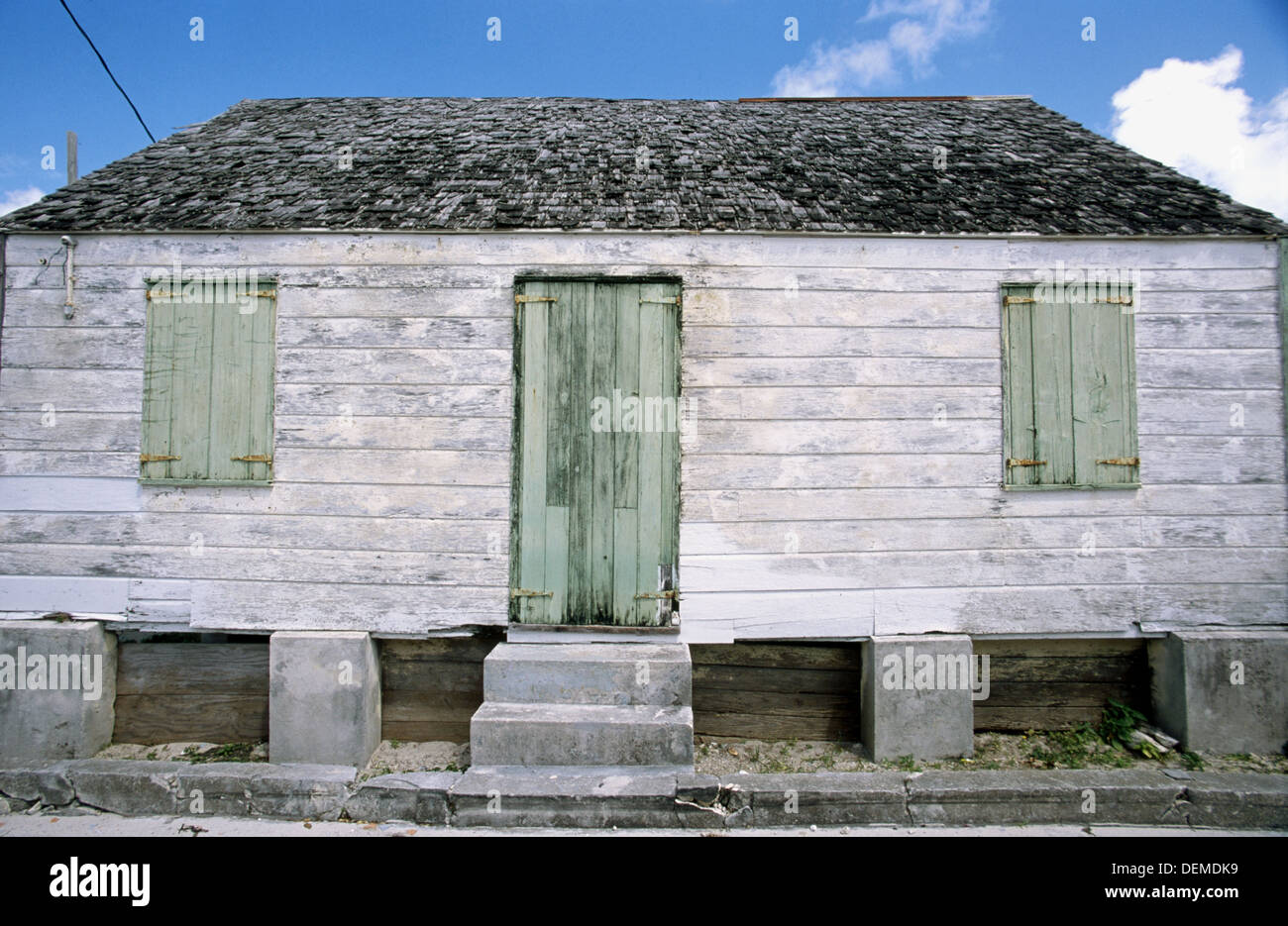 This Little Unrestored Saltbox House Is Typical Of The 19th Century New England Style Architecture Found In Abaco Chain
