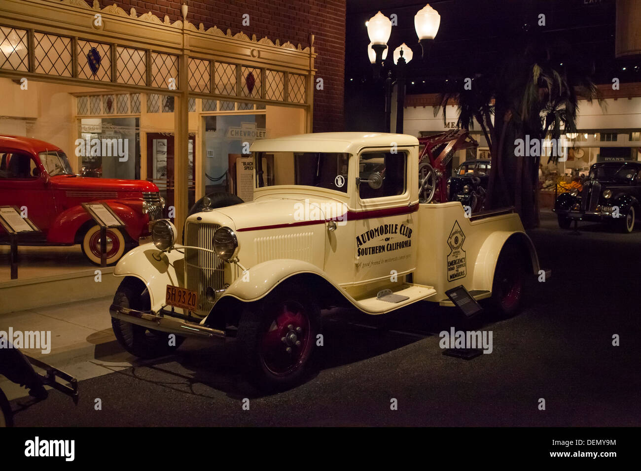 1932 ford tow truck at the petersen museum in los angeles california