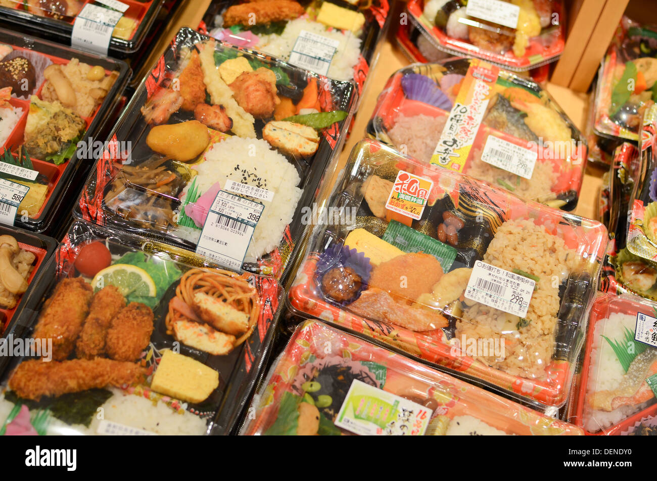 japanese bento lunches for sale in a supermarket in japan. Black Bedroom Furniture Sets. Home Design Ideas
