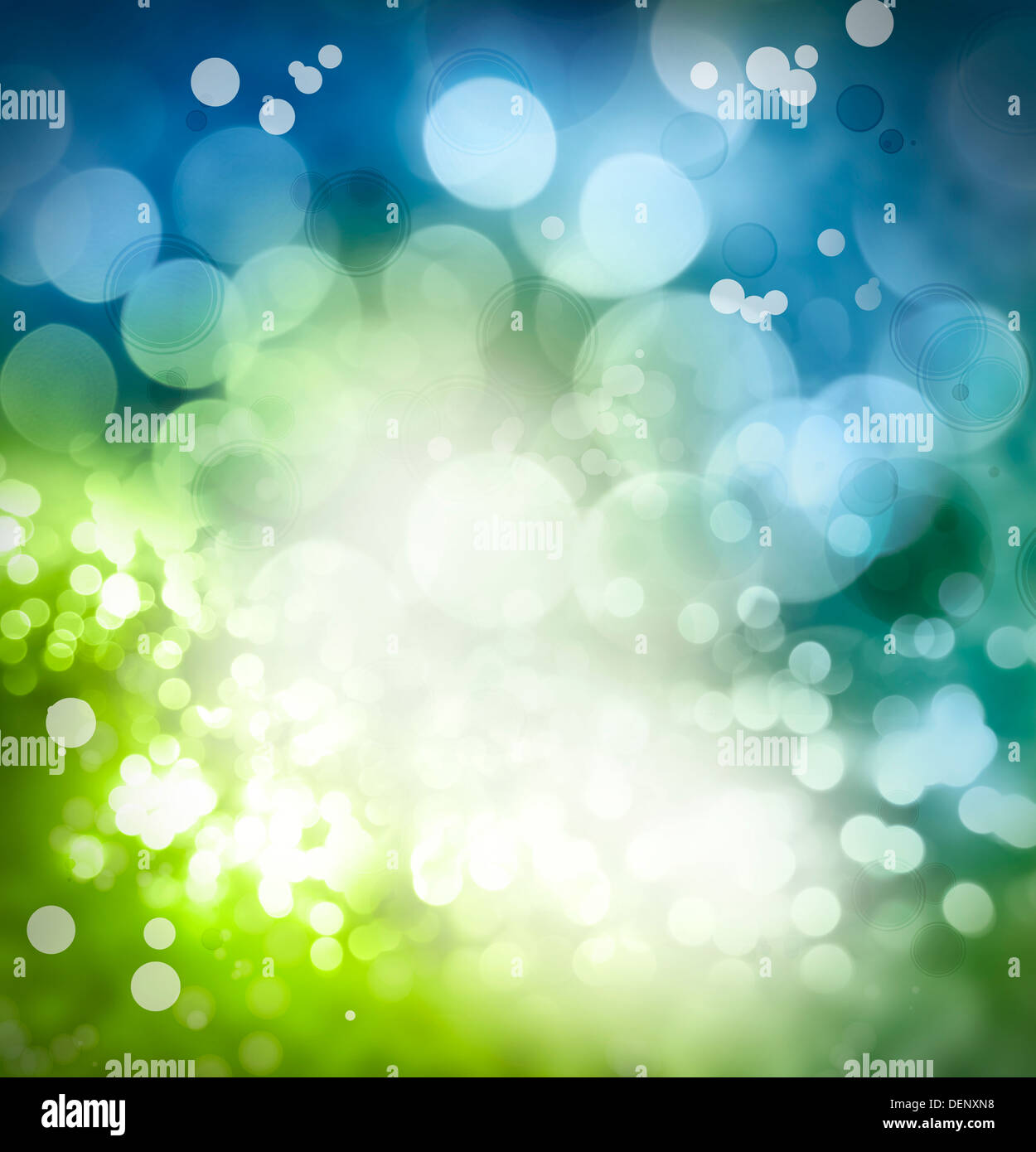 Bright Circles Of Light Abstract Color Background