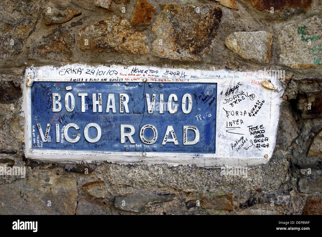 U2 graffiti wall location - Ireland County Dublin Killiney Vico Road U2 Graffiti In Front Of Bono S House