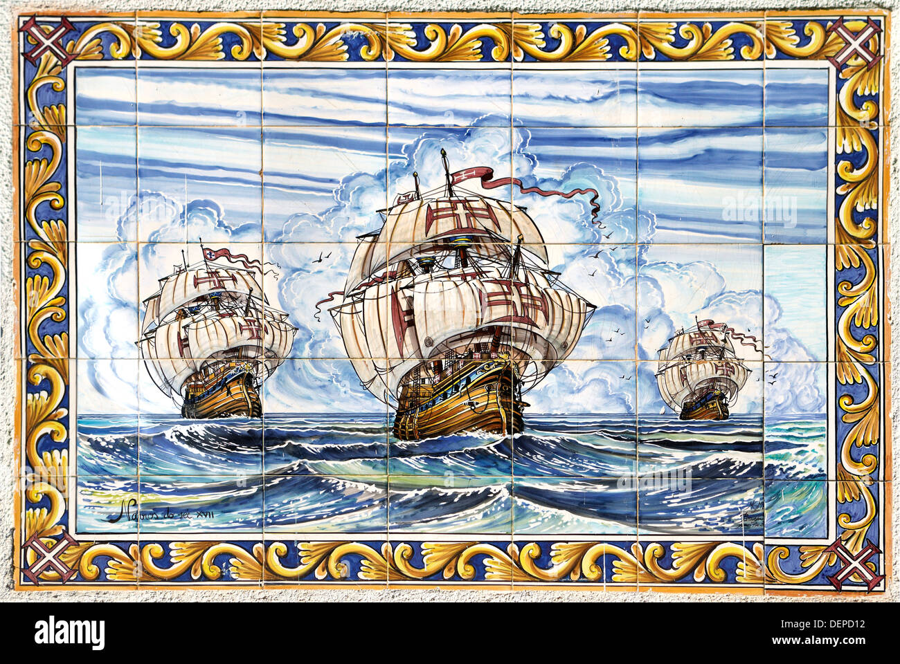 Superior Hand Painted Ceramic Tiles Wall Decoration Lisbon Portugal