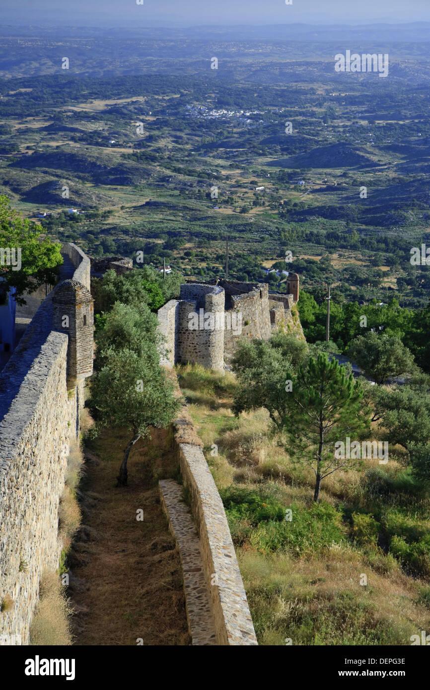 View from marvao town ramparts parque natural da serra de - Natura portugal ...