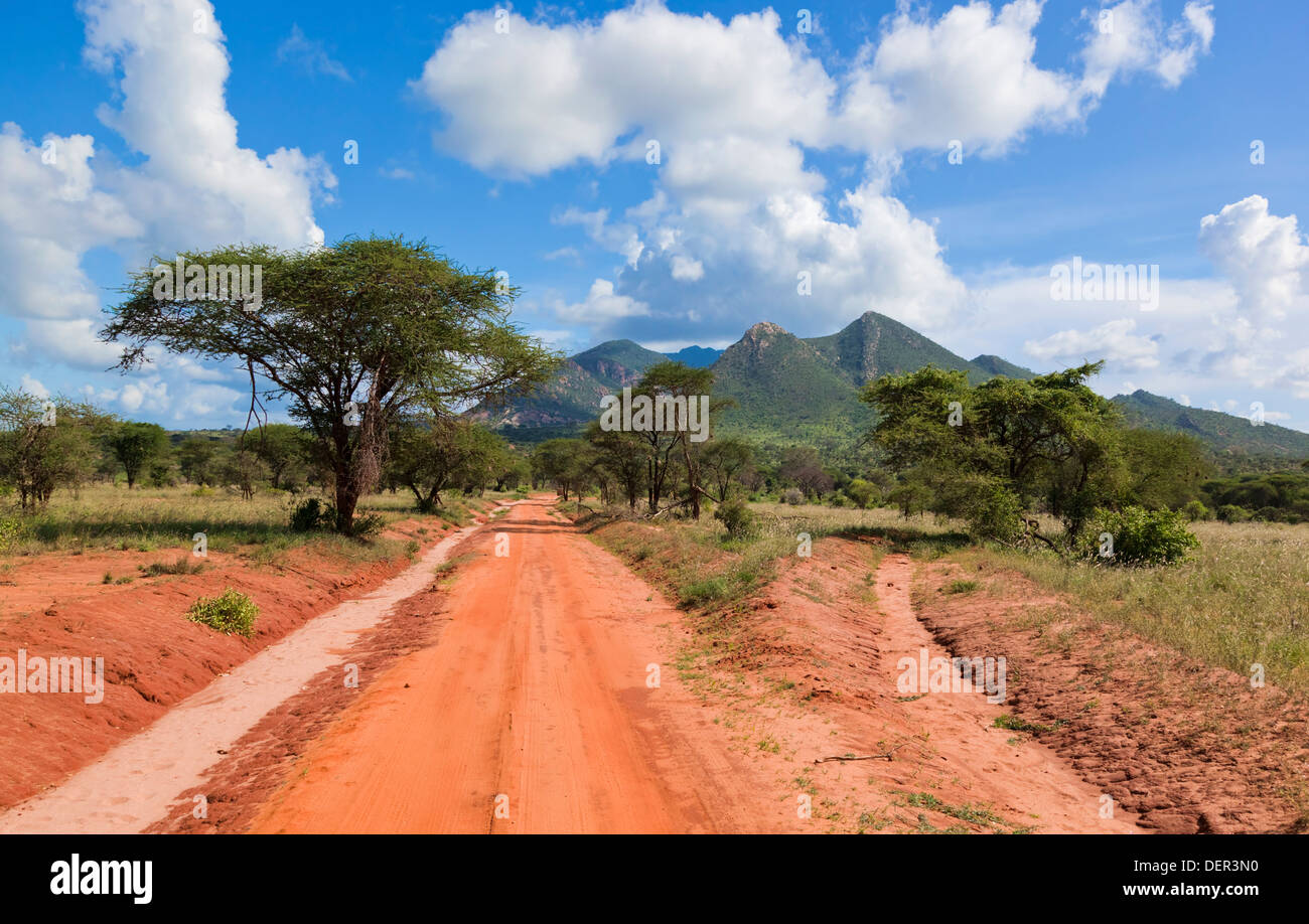 Road Africa - Tsavo West National Park, Kenya, Africa ...