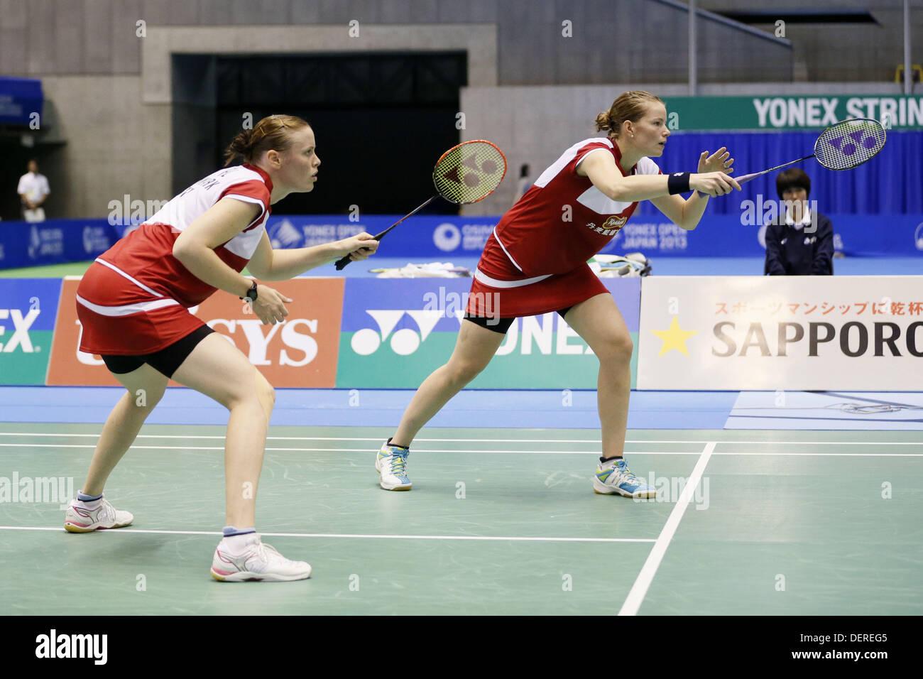 Tokyo Japan 22nd Sep 2013 Christinna Pedersen & Kamilla Rytter