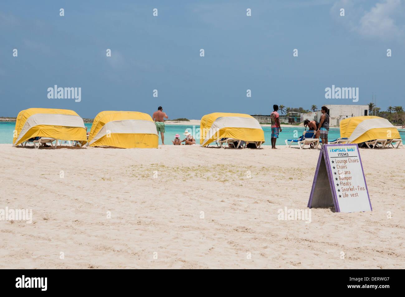 Stock Photo - sun tents on Baby Beach in Aruba  sc 1 st  Alamy & sun tents on Baby Beach in Aruba Stock Photo Royalty Free Image ...