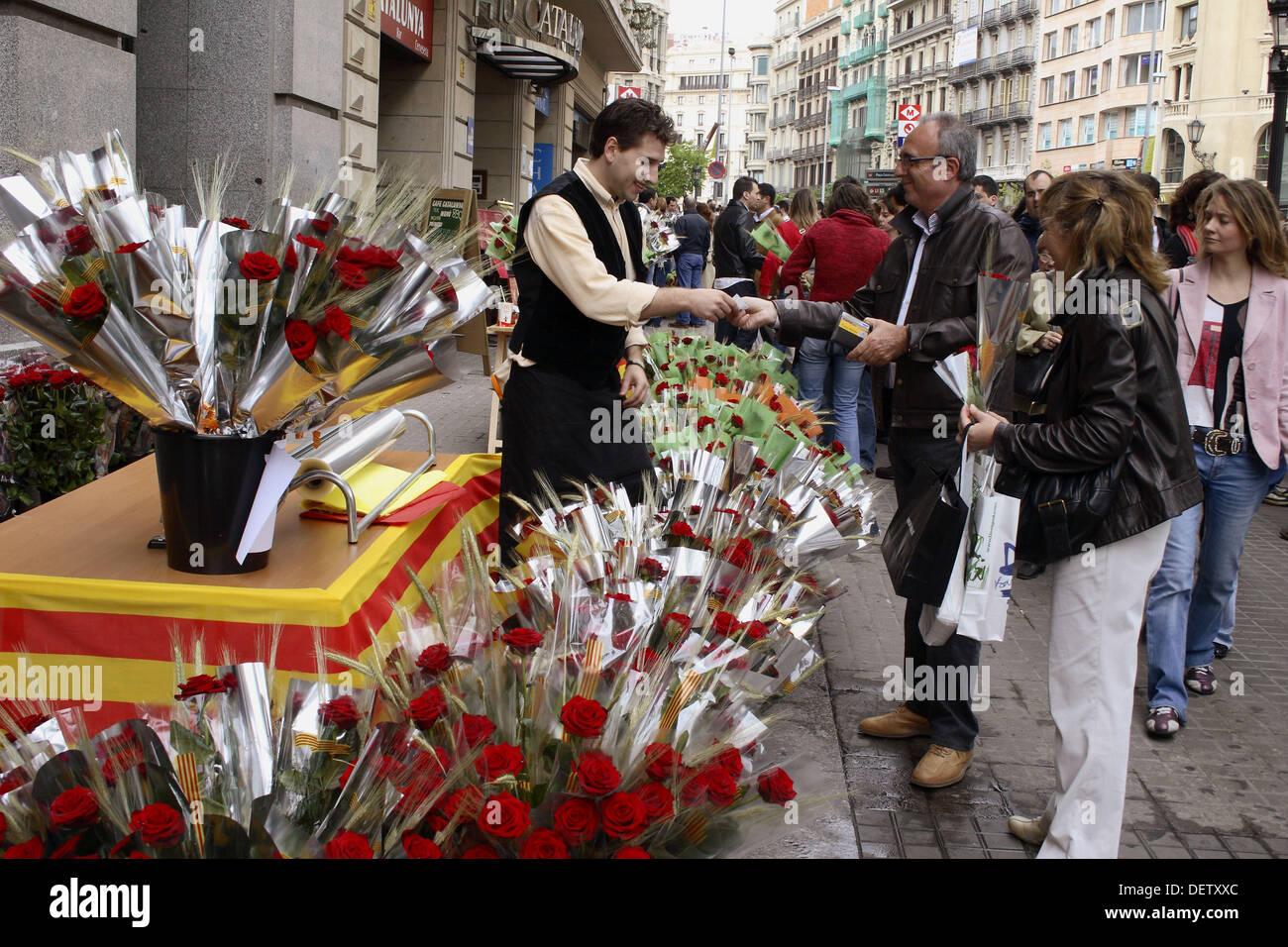 Sant jordi festival barcelona spain stock photo royalty for Piscinas sant jordi barcelona