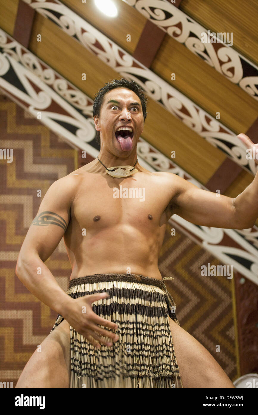 Maori Haka: Maori, Haka, New Zealand Stock Photo, Royalty Free Image
