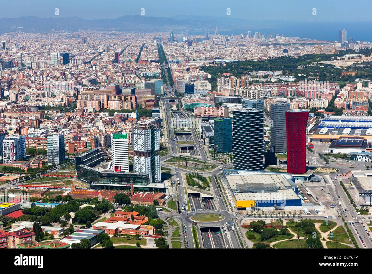 gran via and fira l hospitalet de llobregat barcelona spain stock photo 60834138 alamy. Black Bedroom Furniture Sets. Home Design Ideas