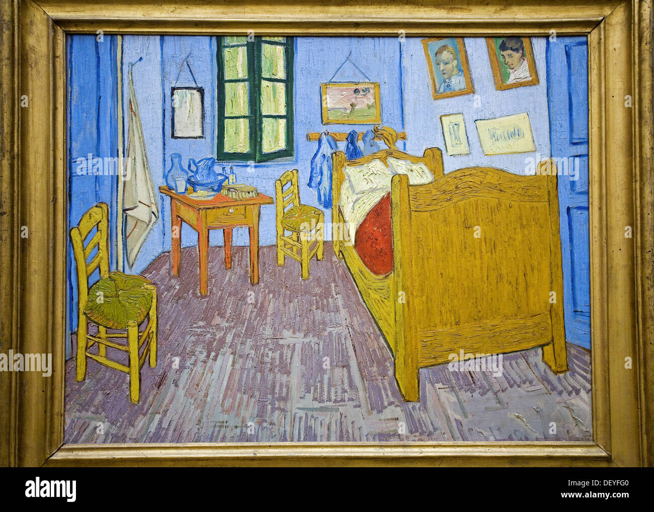 la chambre de van gogh a arles 1889 vincent van gogh orsay museum stock photo royalty free. Black Bedroom Furniture Sets. Home Design Ideas