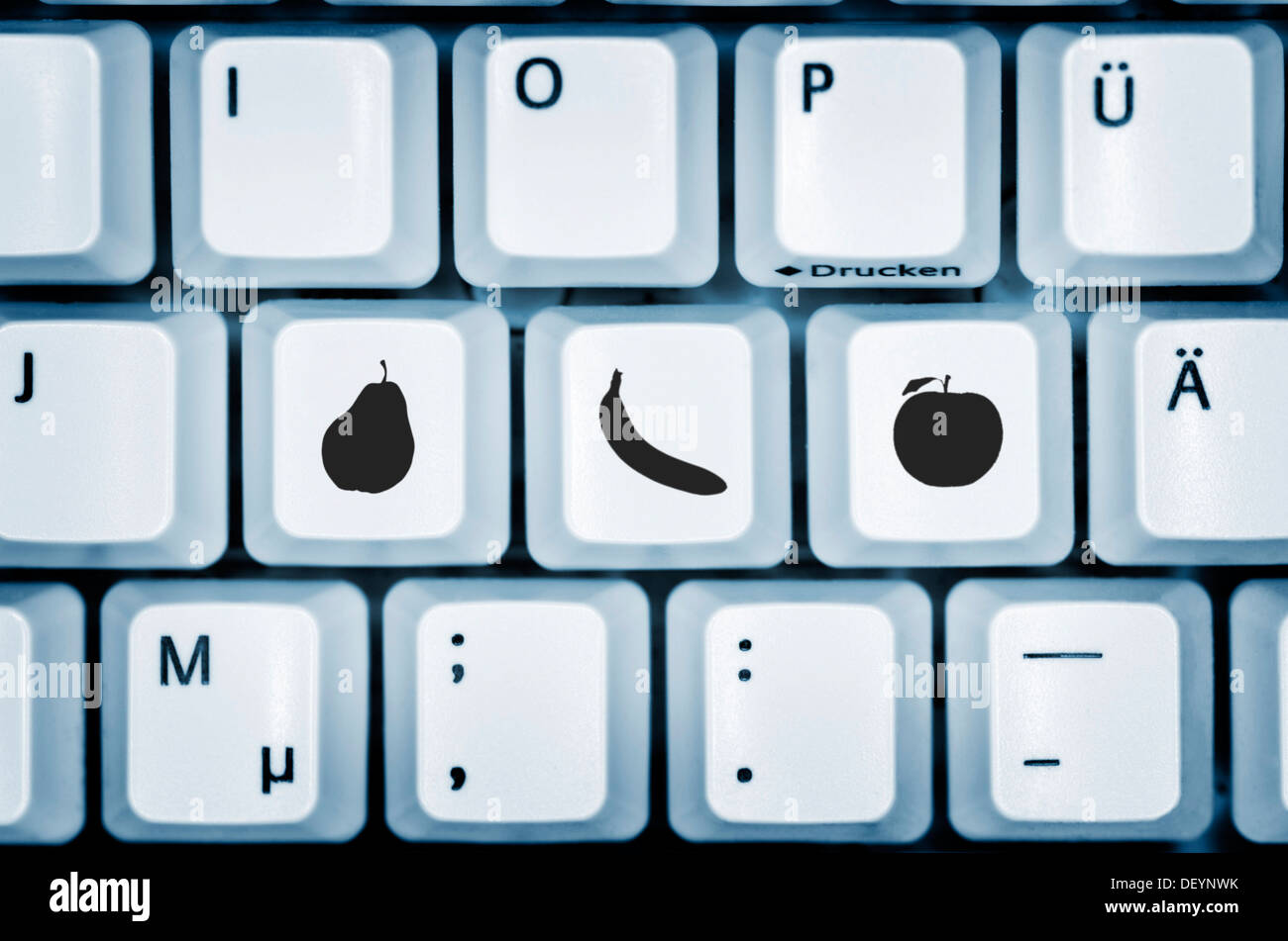 Computer keyboard keys labelled with fruit symbols symbolic computer keyboard keys labelled with fruit symbols symbolic image online grocery shopping buycottarizona Gallery