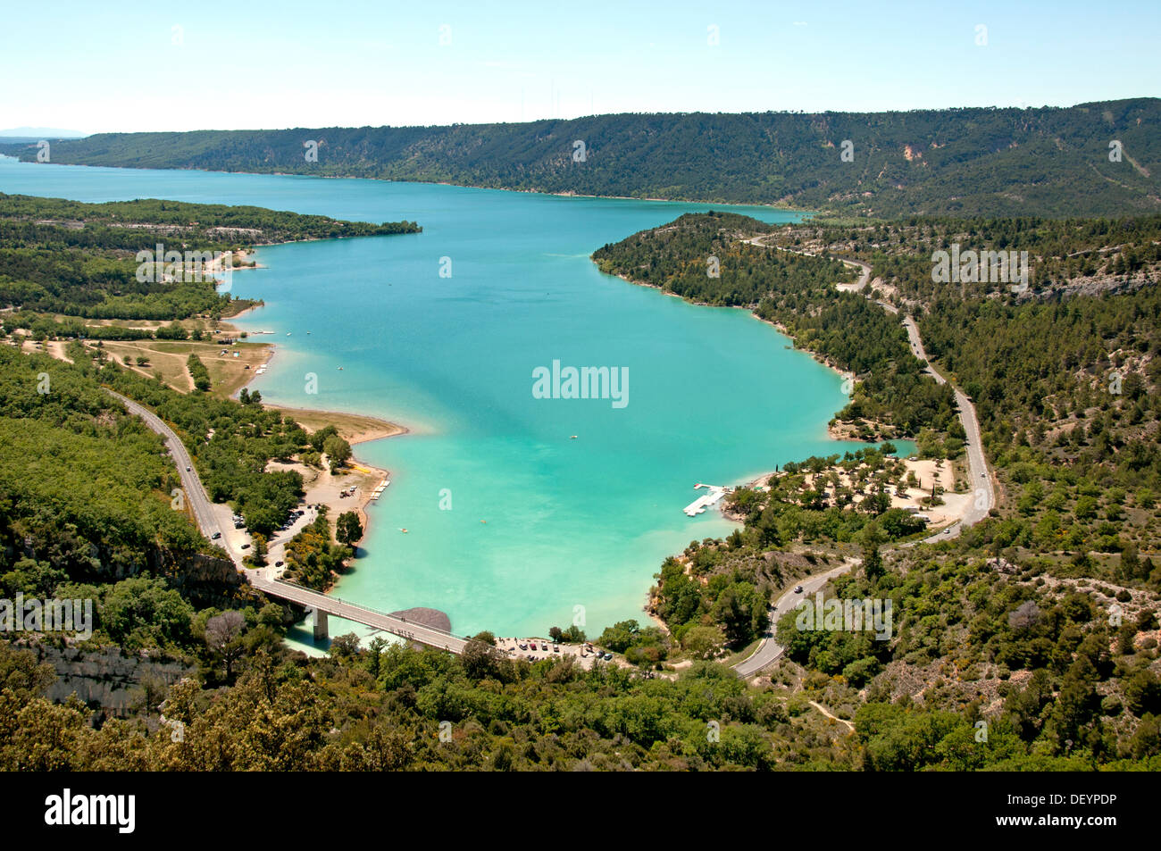 St croix lake les gorges du verdon provence france stock - Office du tourisme sainte croix du verdon ...