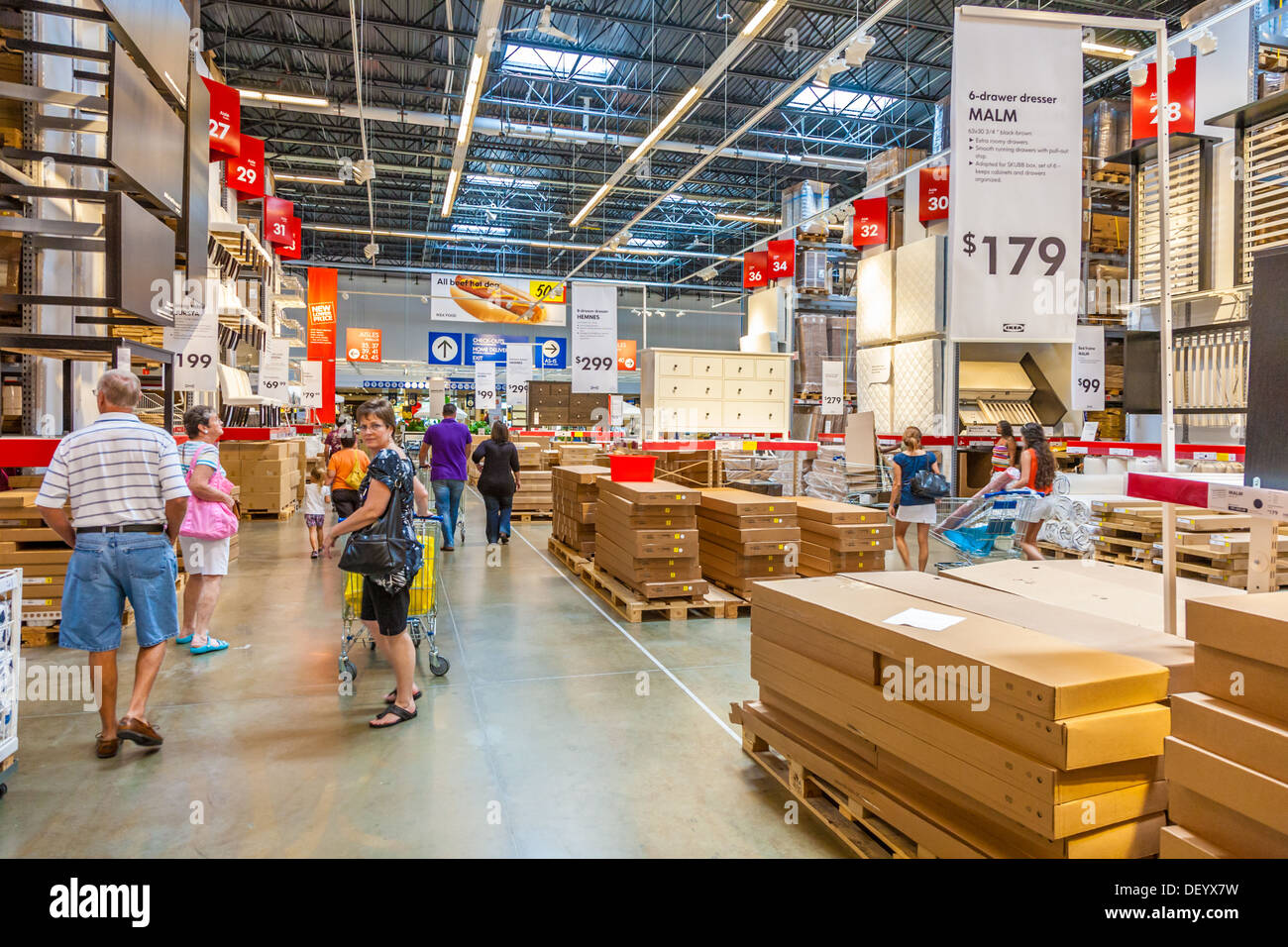 customers inside warehouse part of ikea home store stock photo royalty free image 60849597 alamy. Black Bedroom Furniture Sets. Home Design Ideas