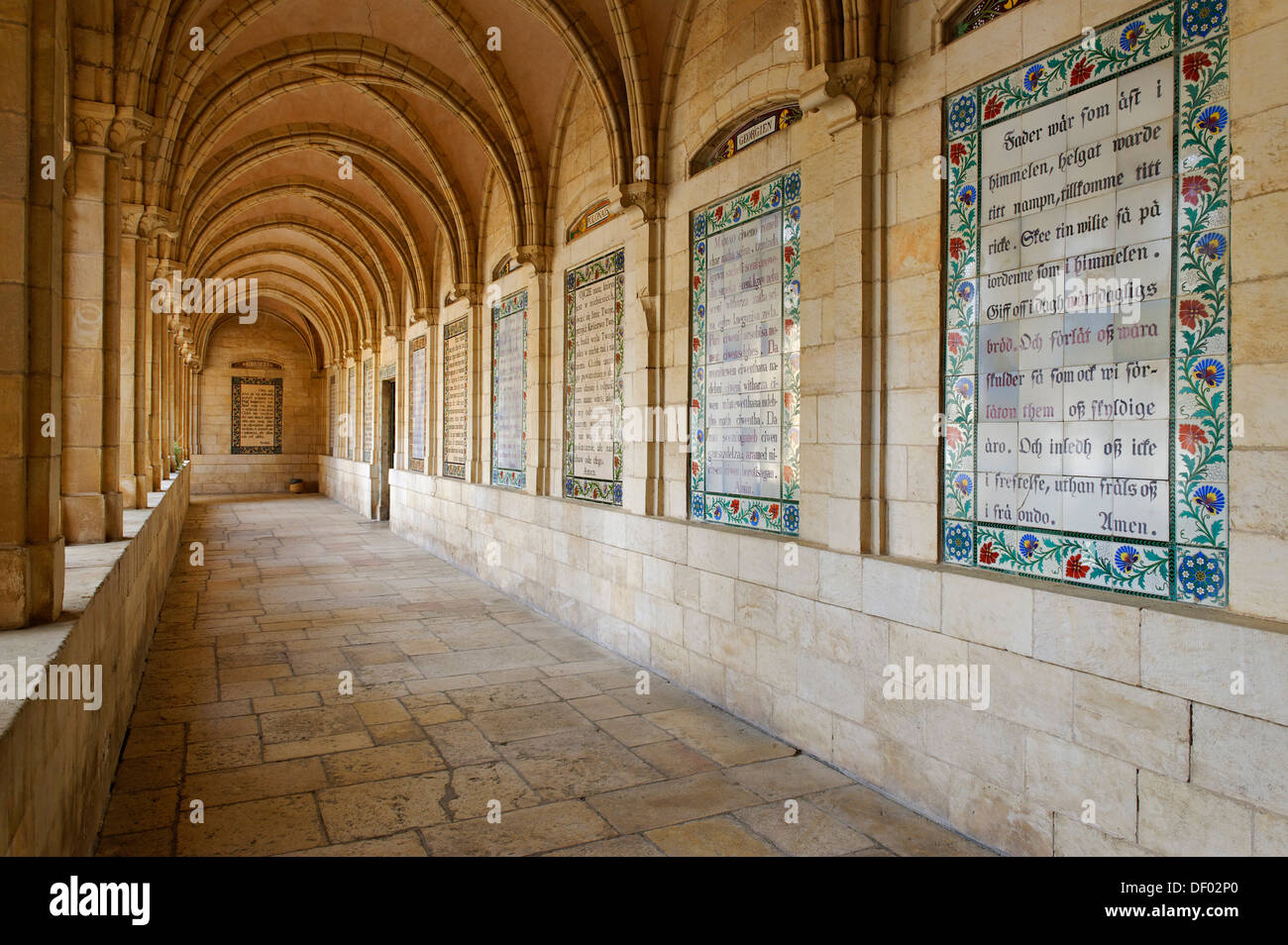 cloister church of the pater noster or sancturay of the eleona stock photo royalty free image