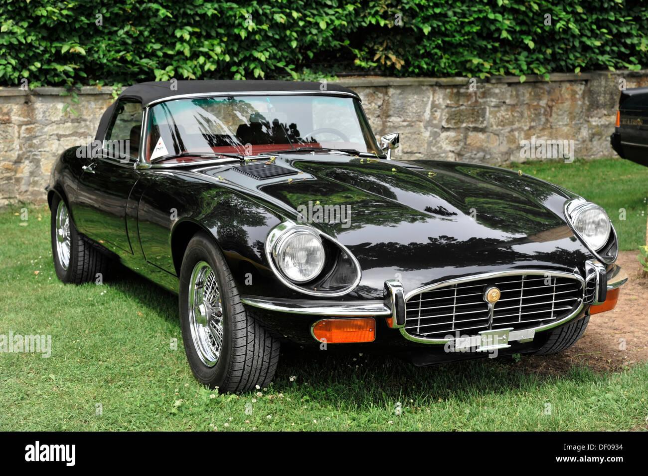 Jaguar e type v12 roadster built in 1972 classic car retro classics meets