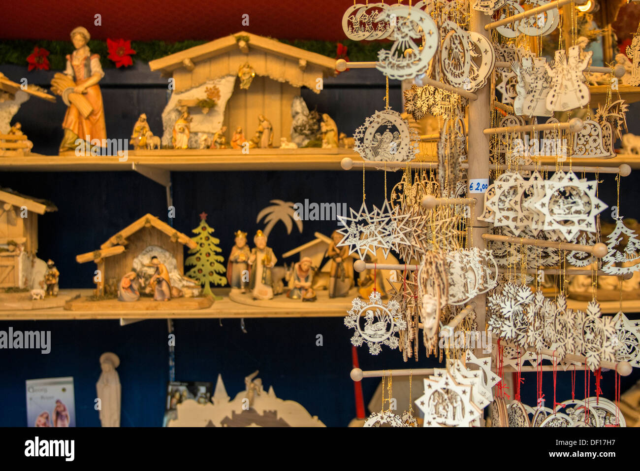 Carved Wooden Christmas Ornaments And Nativities