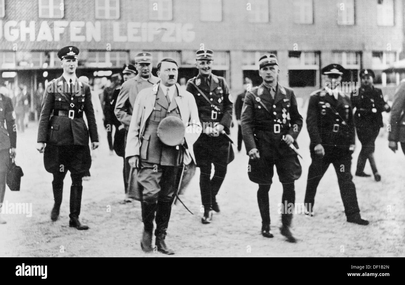 The image from the Nazi Propaganda! shows Adolf Hitler ...