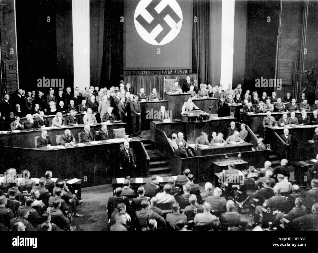 nazi germany propaganda speech Joseph goebbels , the head of nazi germany's ministry of public enlightenment and propaganda the propaganda used by the german nazi party in the years leading up to and during adolf hitler 's leadership of germany (1933–1945) was a crucial instrument for acquiring and maintaining power, and for the implementation of nazi policies.