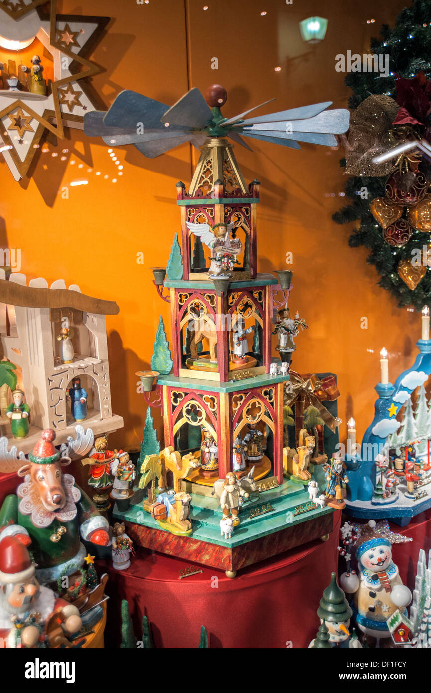 Holiday decorations inside kathe wohlfahrt store wooden for Inside christmas decorations