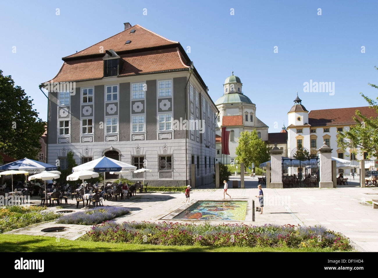 zumsteinhaus and church st lorenz in kempten bavaria germany stock photo royalty free image. Black Bedroom Furniture Sets. Home Design Ideas