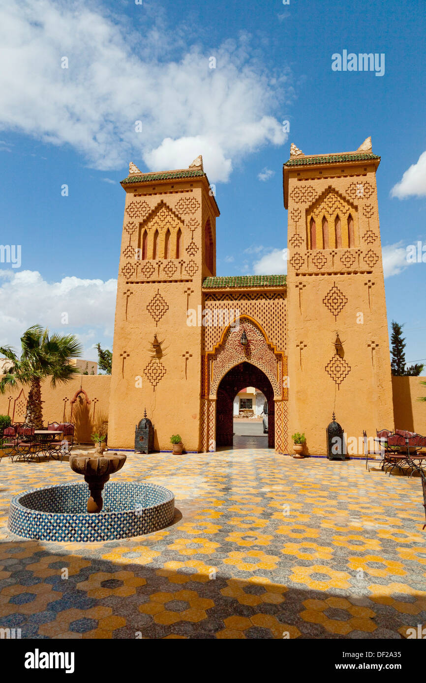 Moroccan architecture at the Hotel Kasbah Asmaa in Midelt Morocco