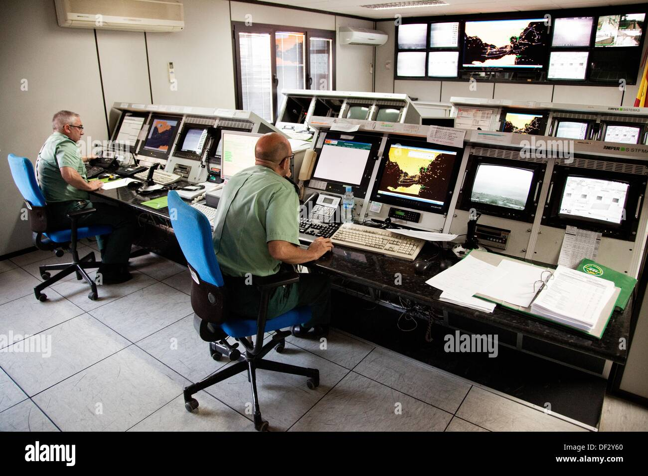 Operations Center Border Surveillance Service Of The Guardia Civil  Algeciras Spain Europe   Stock Image