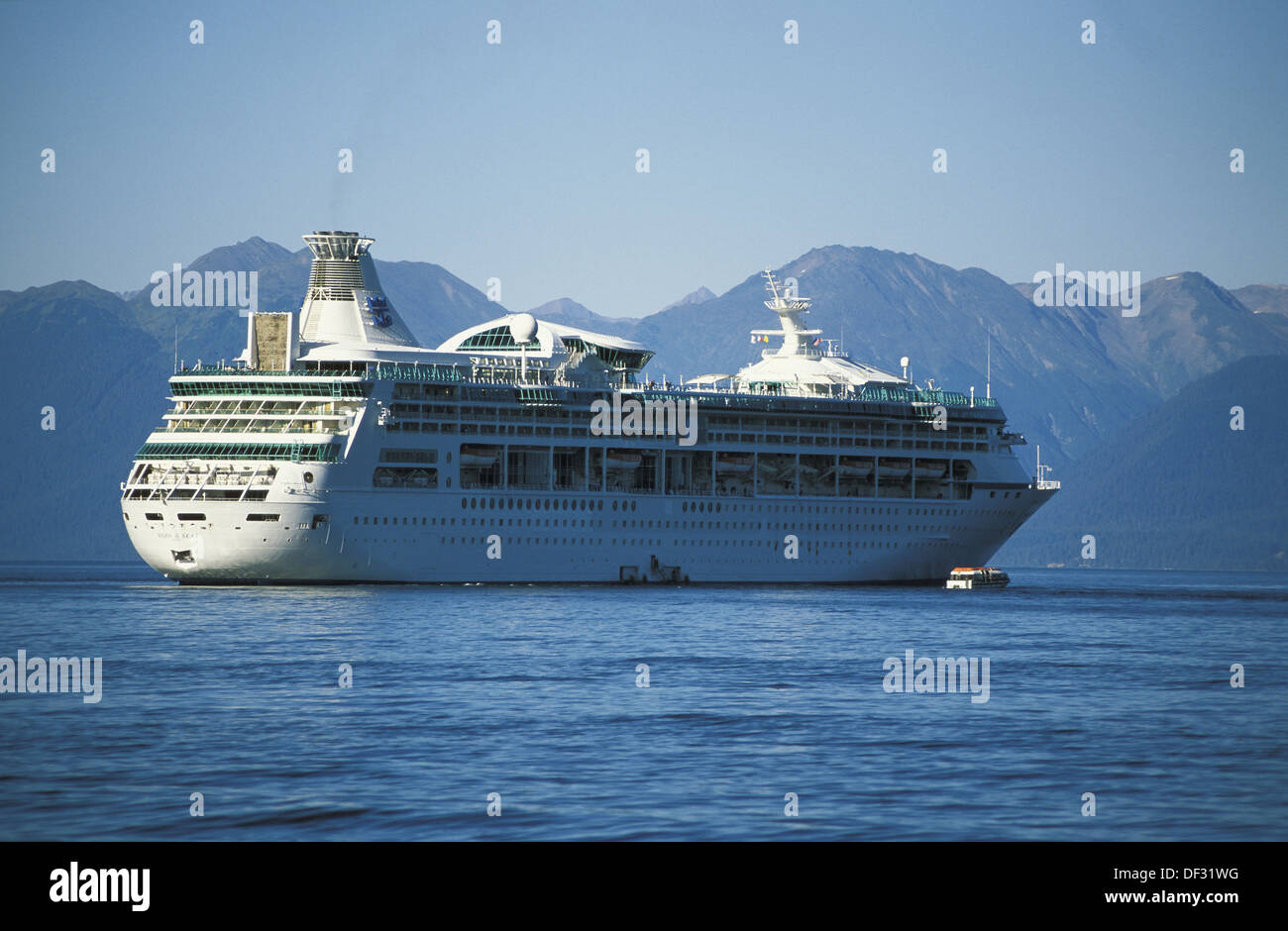 Cruise Ship And Small Rescue Ship Gulf Of Alaska Alaska Stock - Cruise ship rescue