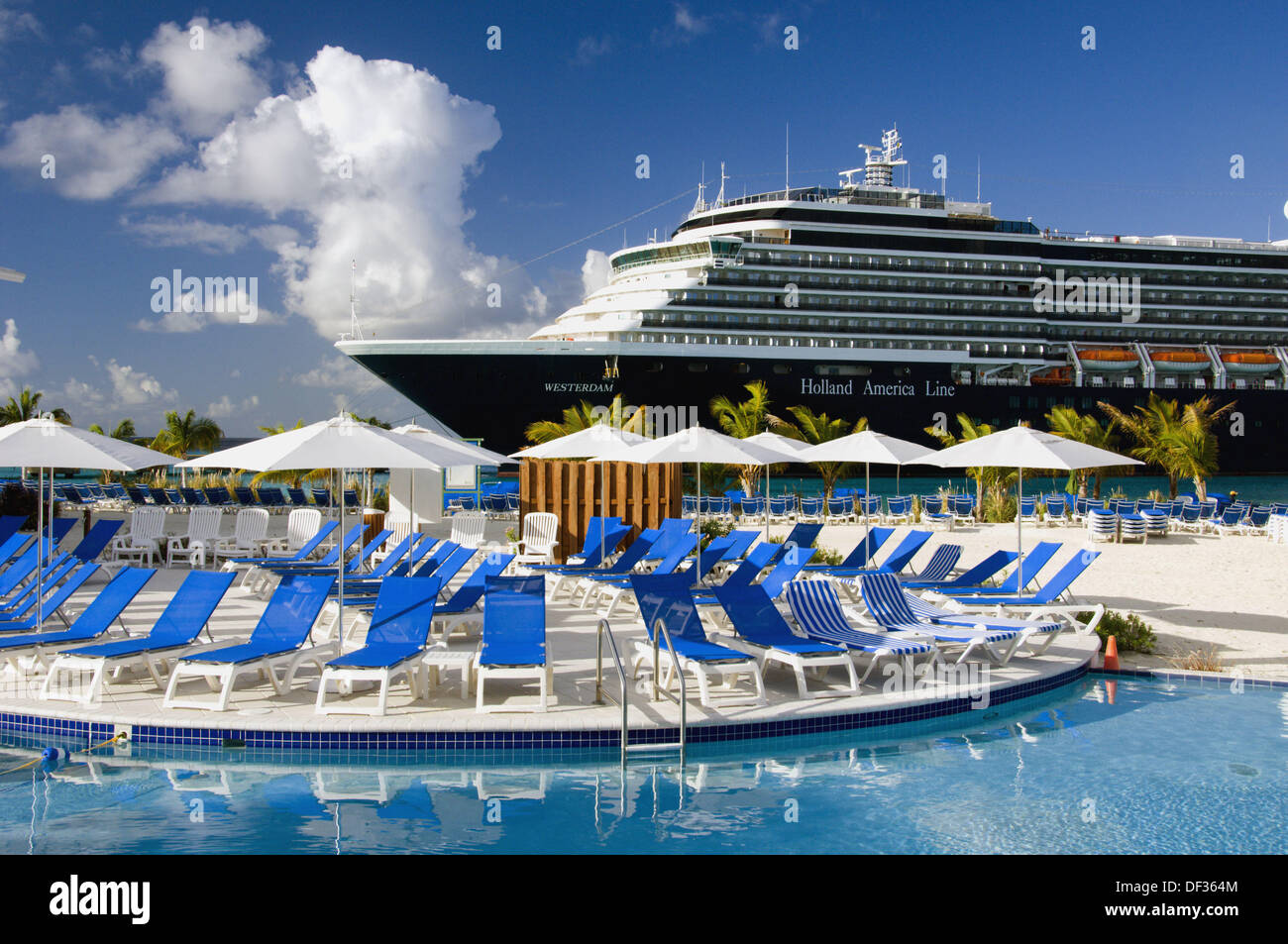 The holland america cruise ship westerdam in port at the port stock