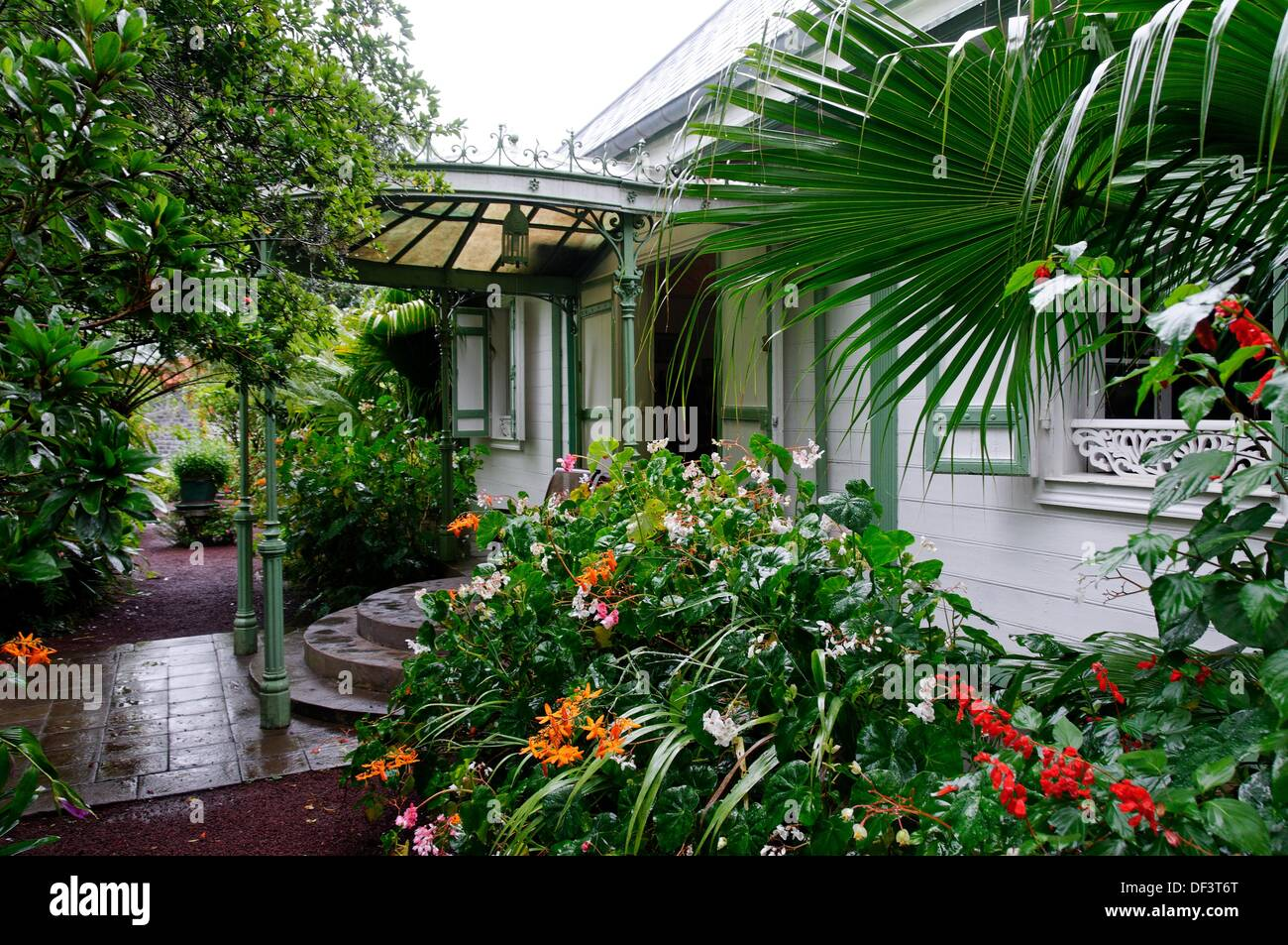 Amazing Folio´s House Traditional Creole House And Garden, Hell Bourg Village,  Cirque De Salazie, Reunion Island, France