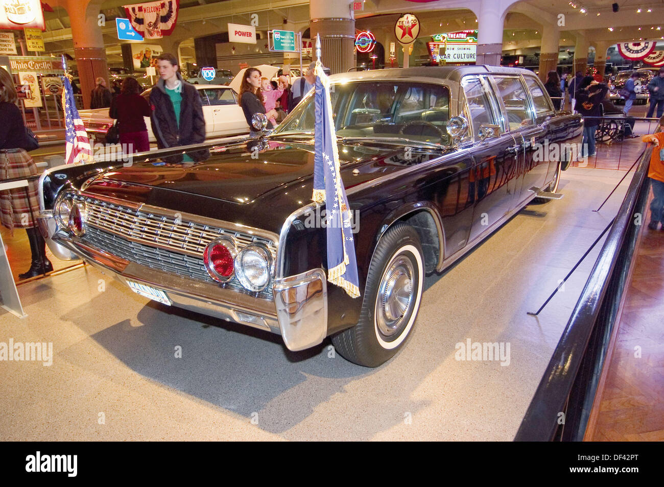 Limousine in which President John F Kennedy was assassinated