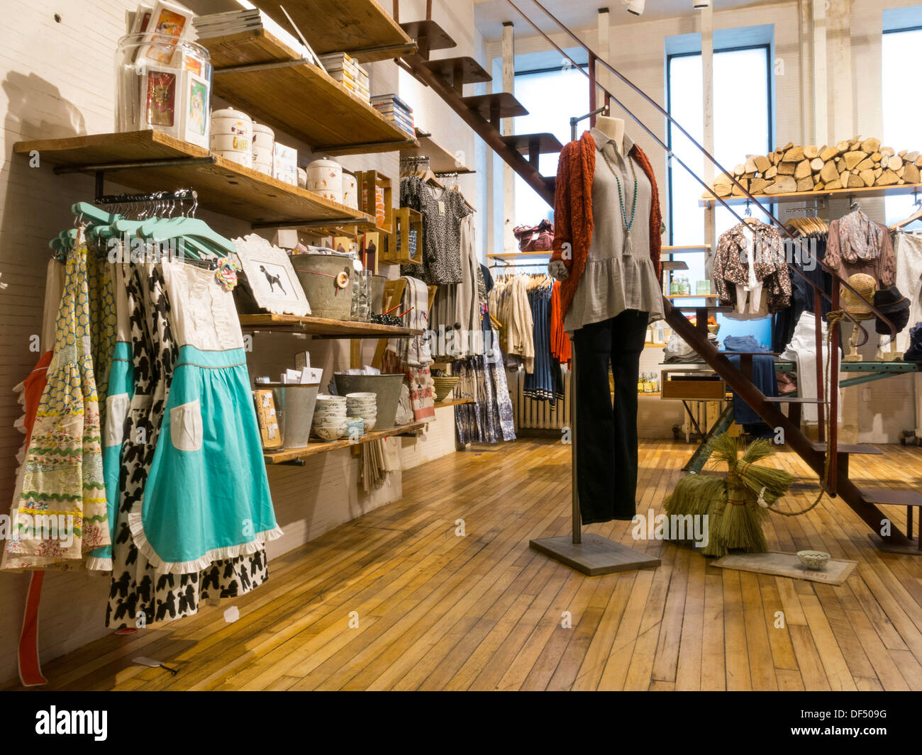 anthropologie store interior nyc stock photo royalty