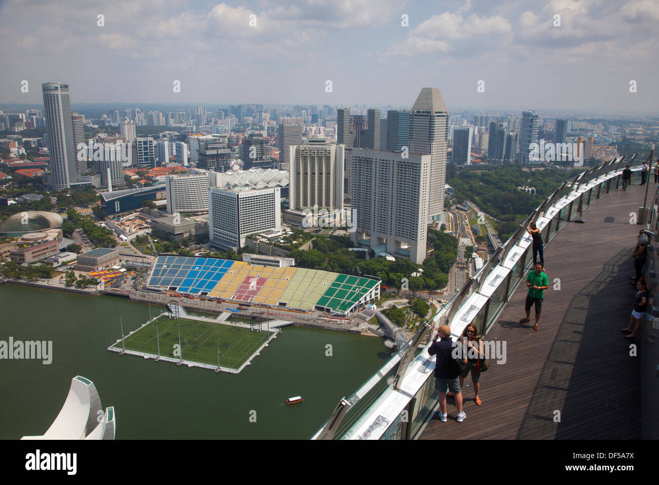 Marina bay sands hotel roof pool singapore asia destination view stock photo royalty free image - Singapore hotel piscina ...
