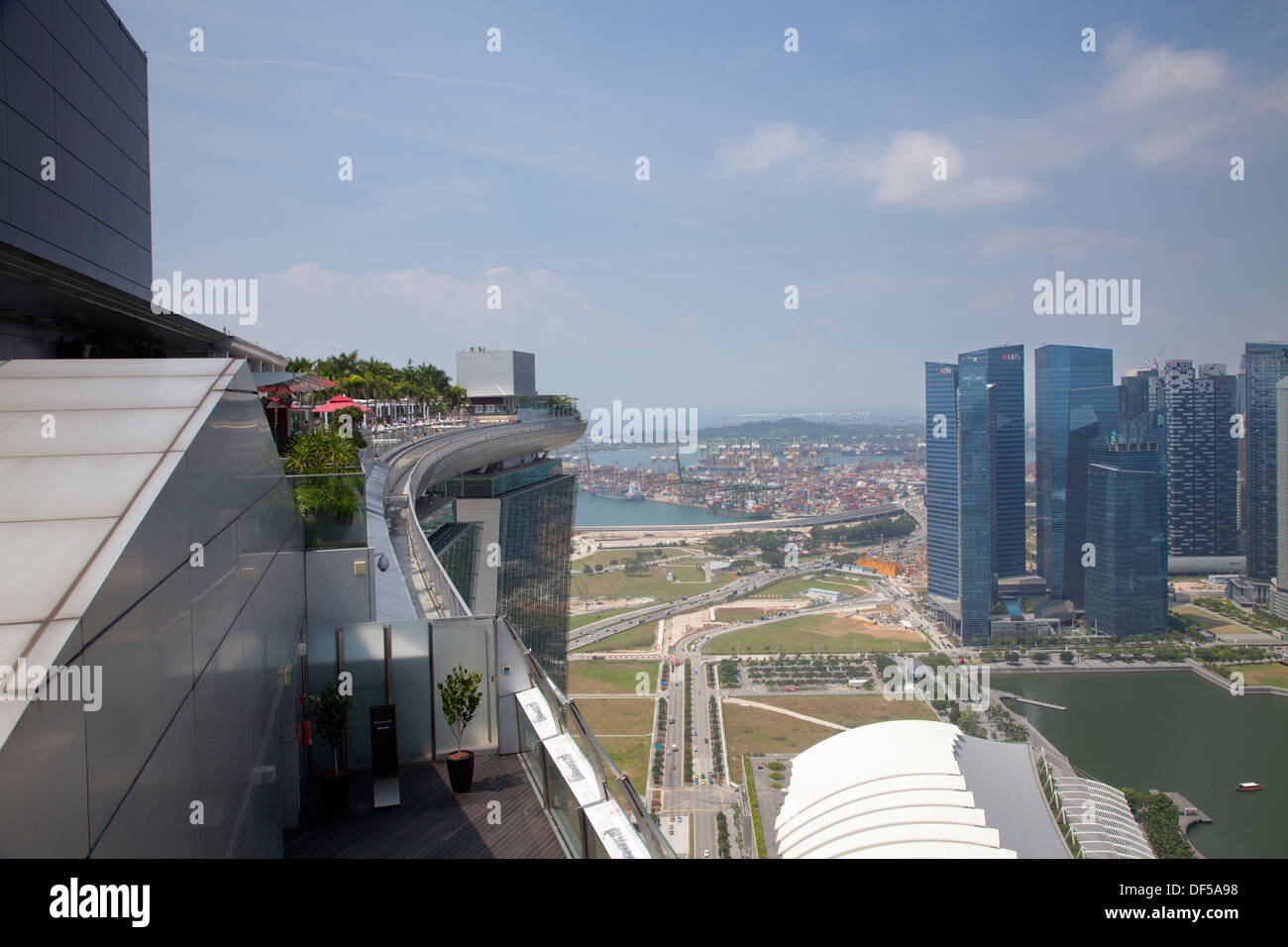 Marina Bay Sands Hotel Roof Pool Singapore Asia Destination View Stock Photo 60968804 Alamy