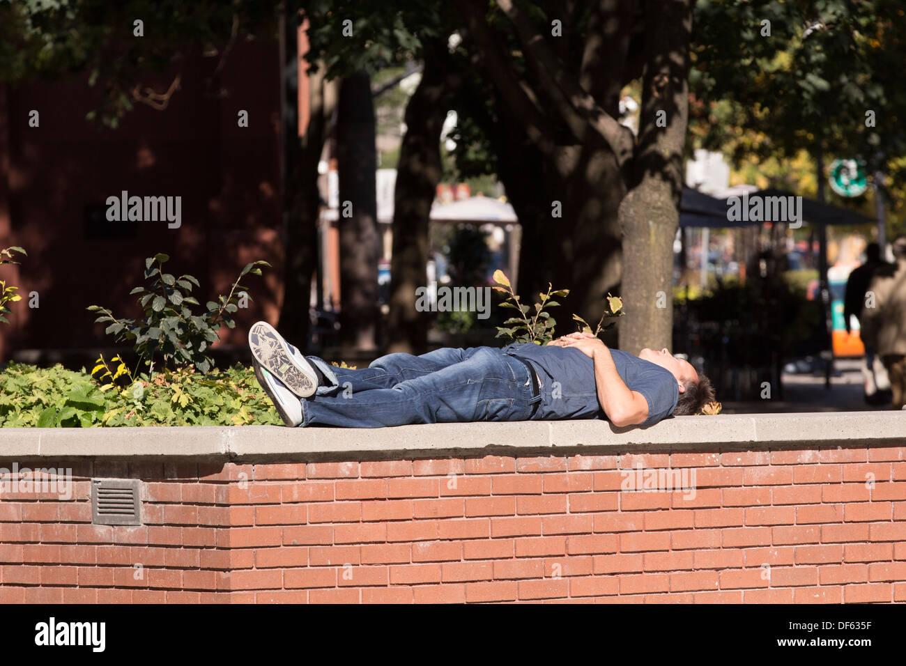 man-sleeping-on-wall-in-the-sun-in-bercz