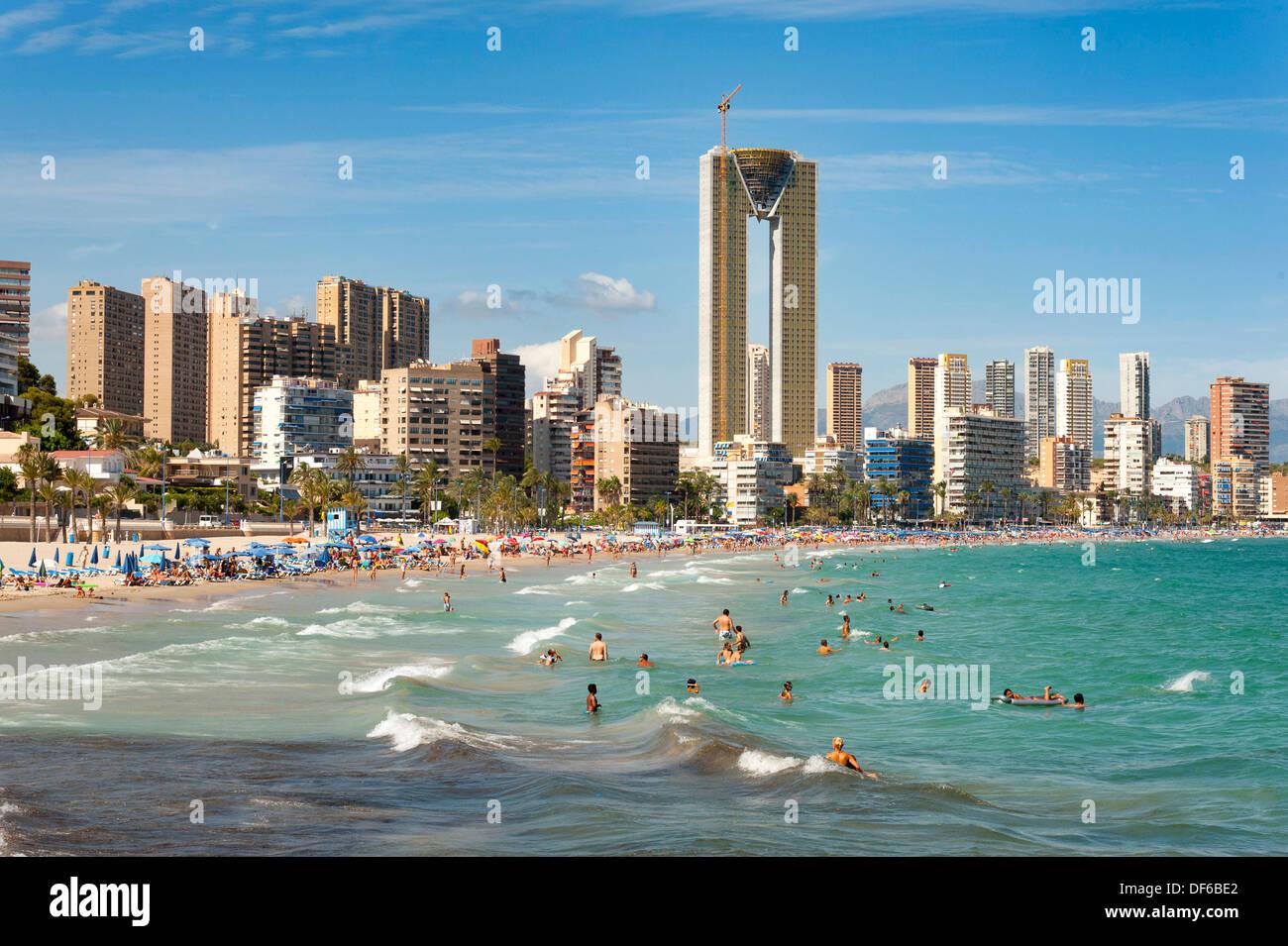 Intempo luxury skyscraper and other high rises in benidorm alicante stock photo royalty free - Stock uno alicante ...