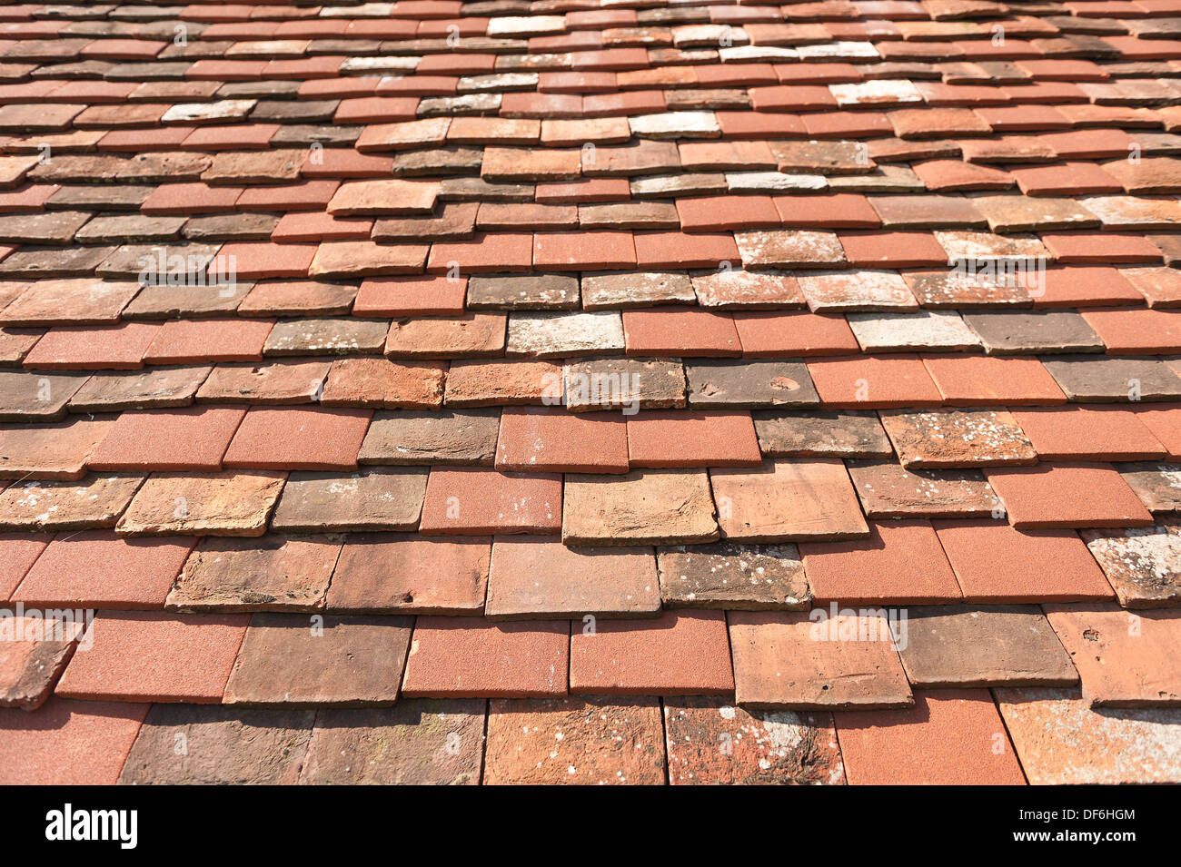 Handmade Old Kent Peg And Clay Plain Tiles Mixed In With