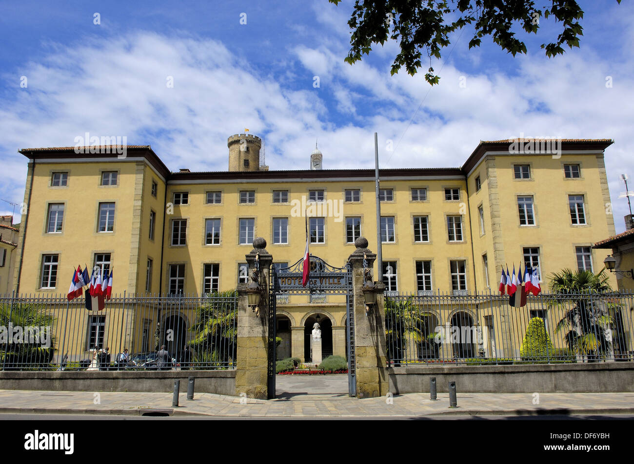 hotel de ville foix cathar country ariege midi pyr n es france stock photo royalty free. Black Bedroom Furniture Sets. Home Design Ideas
