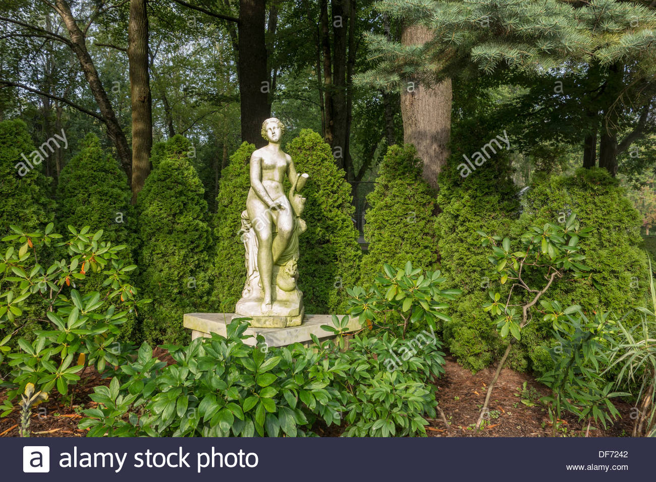 Musidora Sculpture In The Guild Inn Gardens At The Guild A Public Stock Photo Royalty Free
