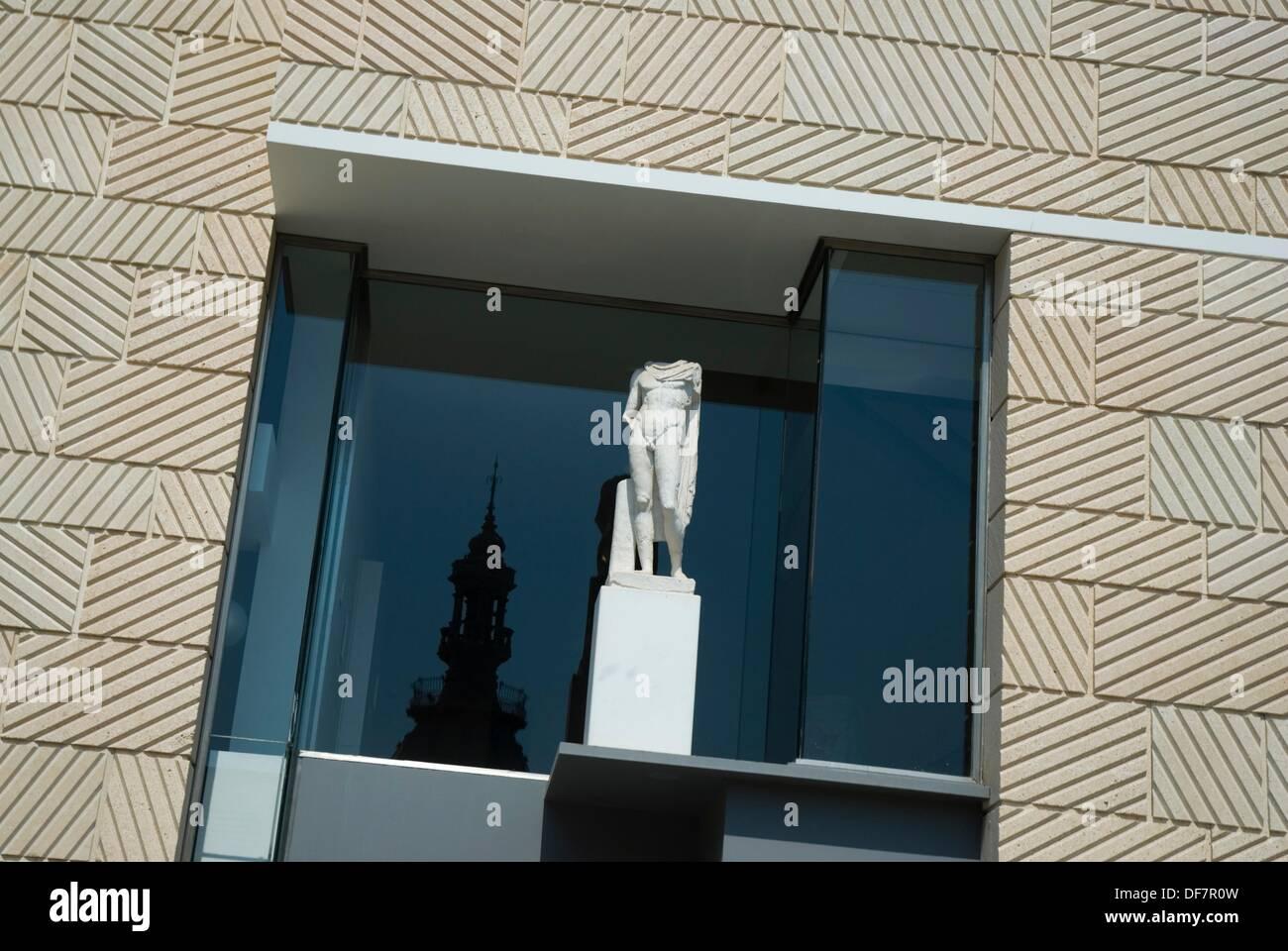 fachada del museo del teatro romano del arquitecto rafael moneo cartagena ciudad region murcia espaa