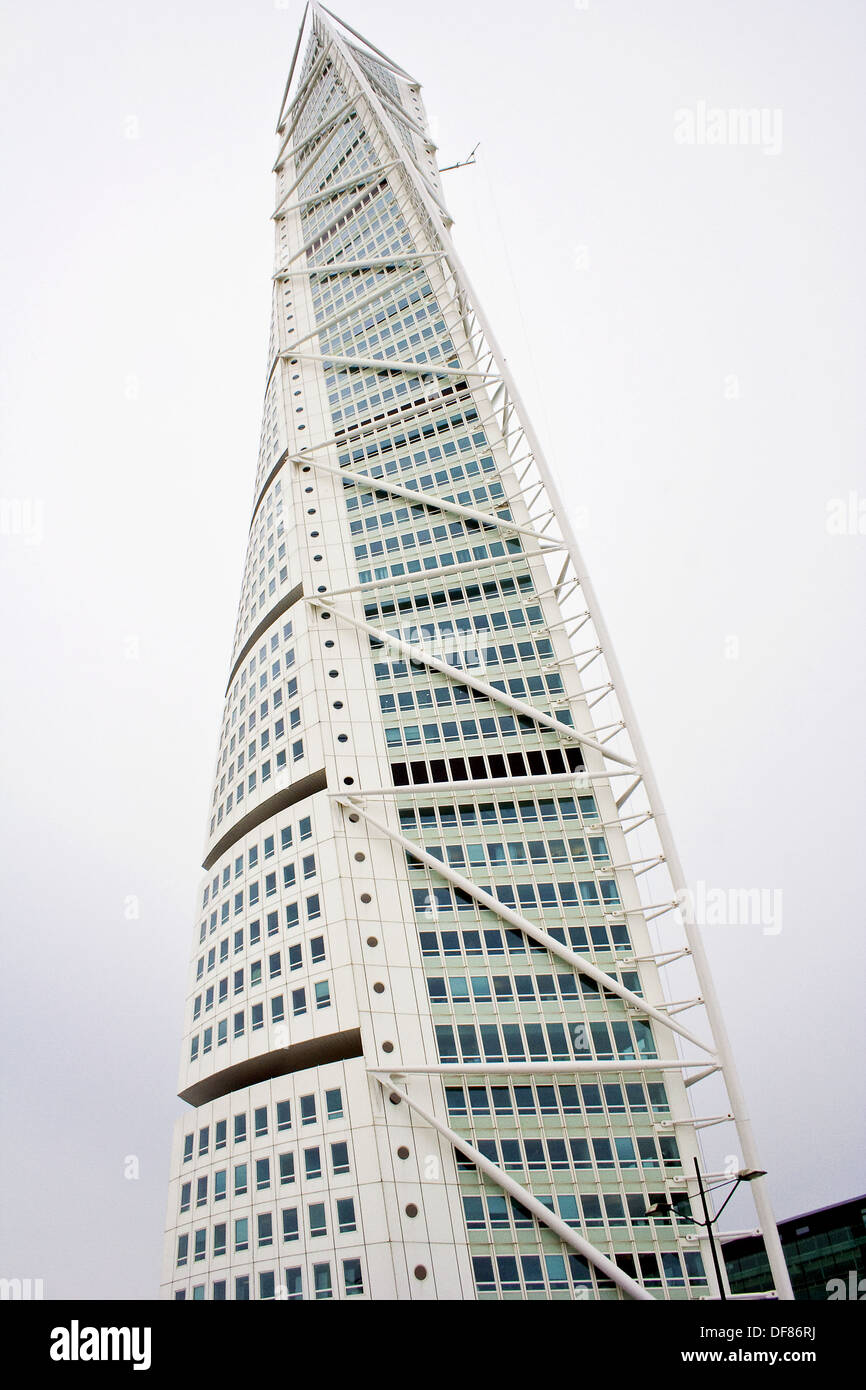 Marvelous HSB Turning Torso Is A Skyscraper In Malmö, Sweden, Located On The Swedish  Side Of The Öresund Strait. It Was Designed By The