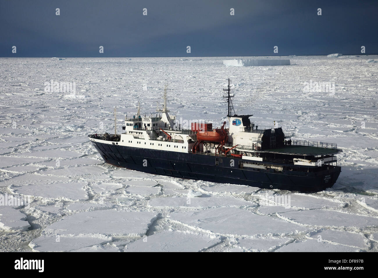 Ship Stuck In Heavy Pack Ice Tourist Cruise Ship Marina Svetaeva - How heavy is a cruise ship