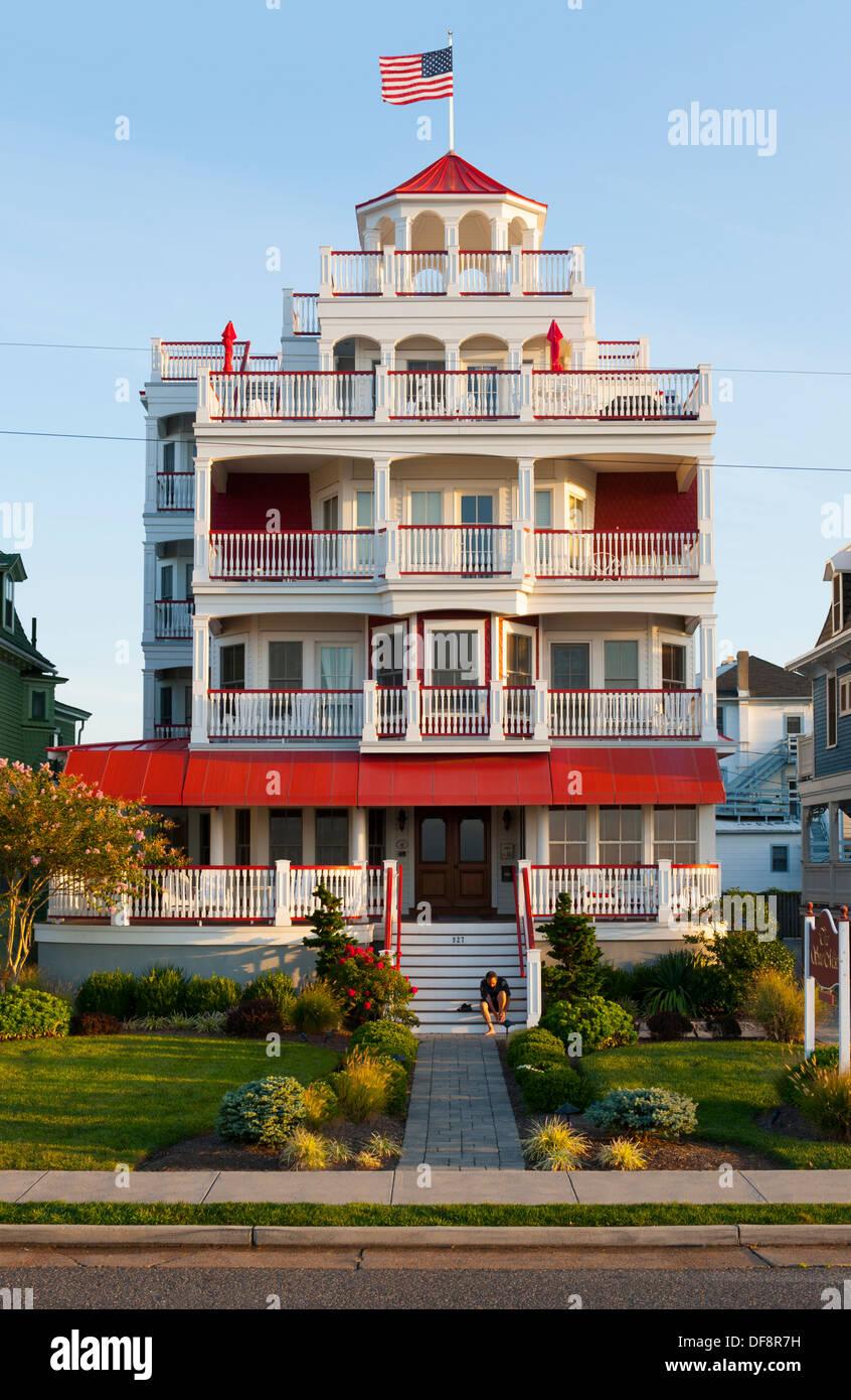 Usa Cape May New Jersey Nj N J Victorian Homes Along Beach Avenue Stock Photo Royalty Free