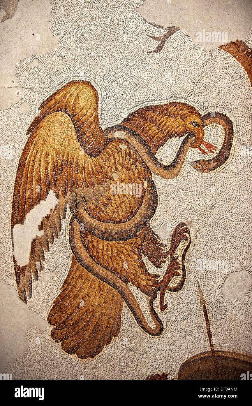 Roman eagle stock photos roman eagle stock images alamy byzantine roman mosaics of an eagle and a snake from the ruins of the great palace biocorpaavc