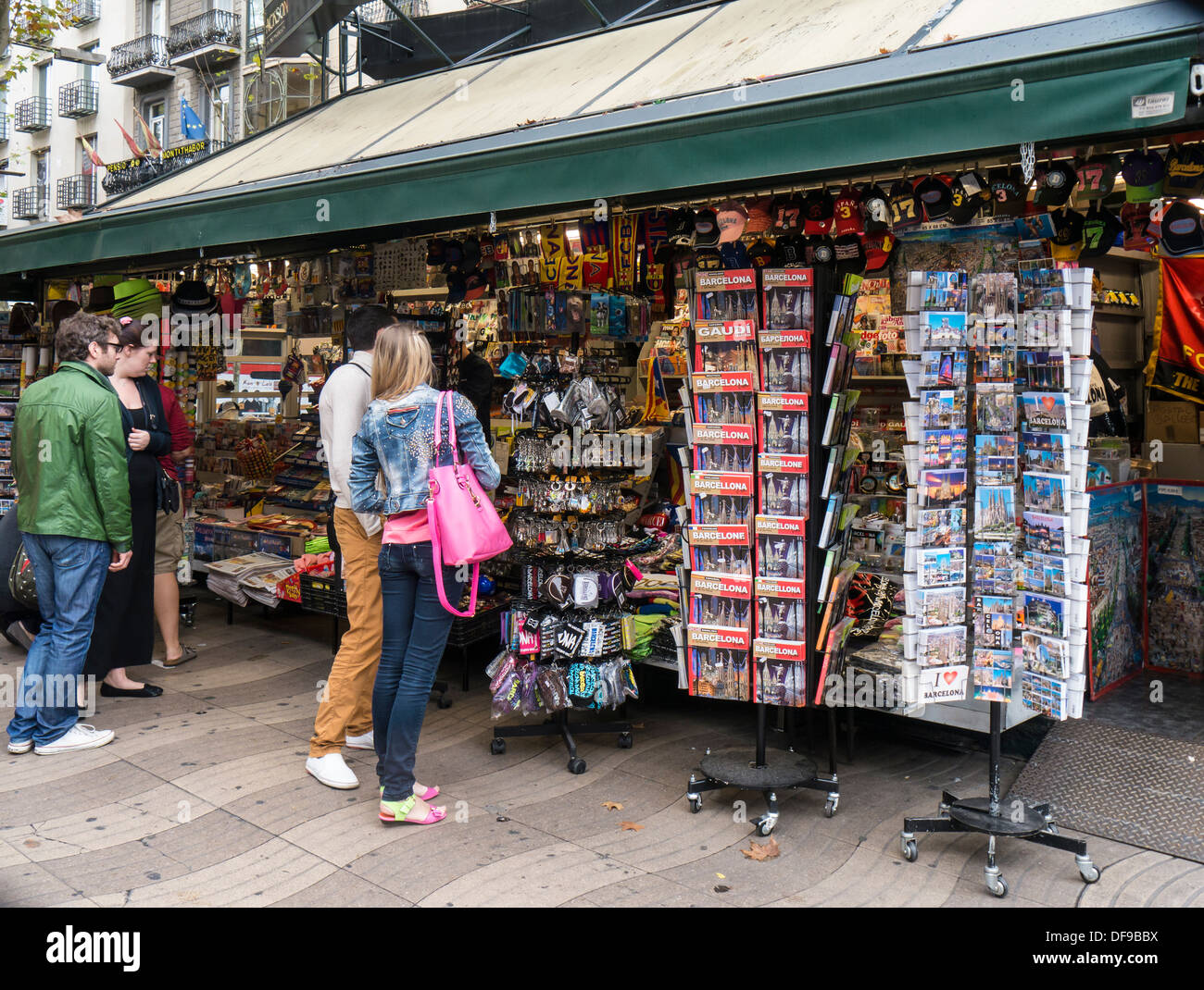 Gift Souvenir Shop on La Rambla, Barcelona Stock Photo, Royalty ...