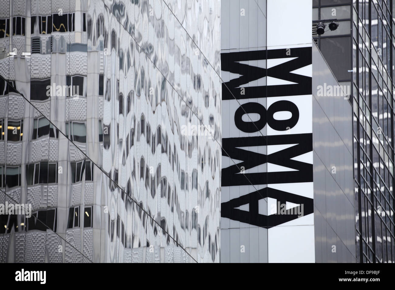 the sign of the museum of modern art moma manhattan new york city stock photo royalty free. Black Bedroom Furniture Sets. Home Design Ideas